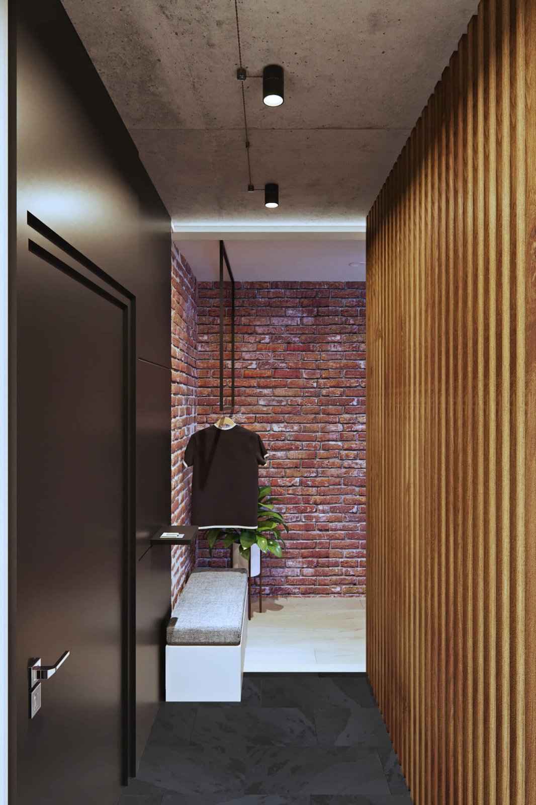 Hallway  A Contemporary Apartment for a Single Man in Moscow