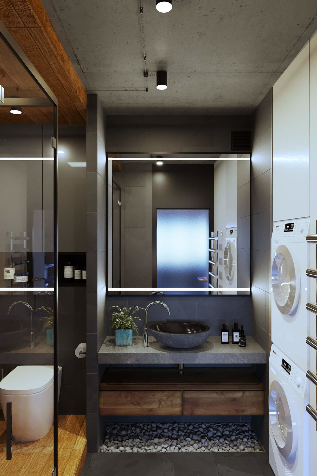 Bath Room  A Contemporary Apartment for a Single Man in Moscow