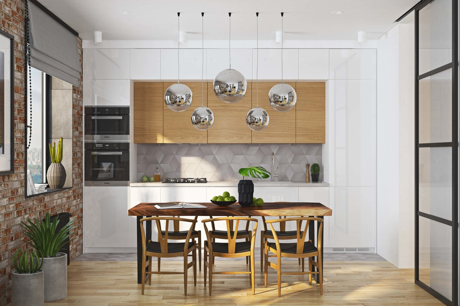 Kitchen  Contemporary Eco-Style Apartment