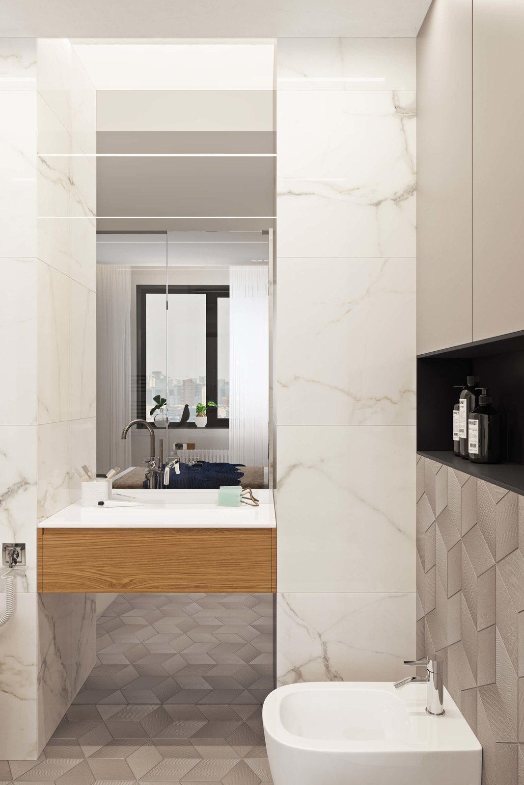 Bath Room  Contemporary Eco-Style Apartment