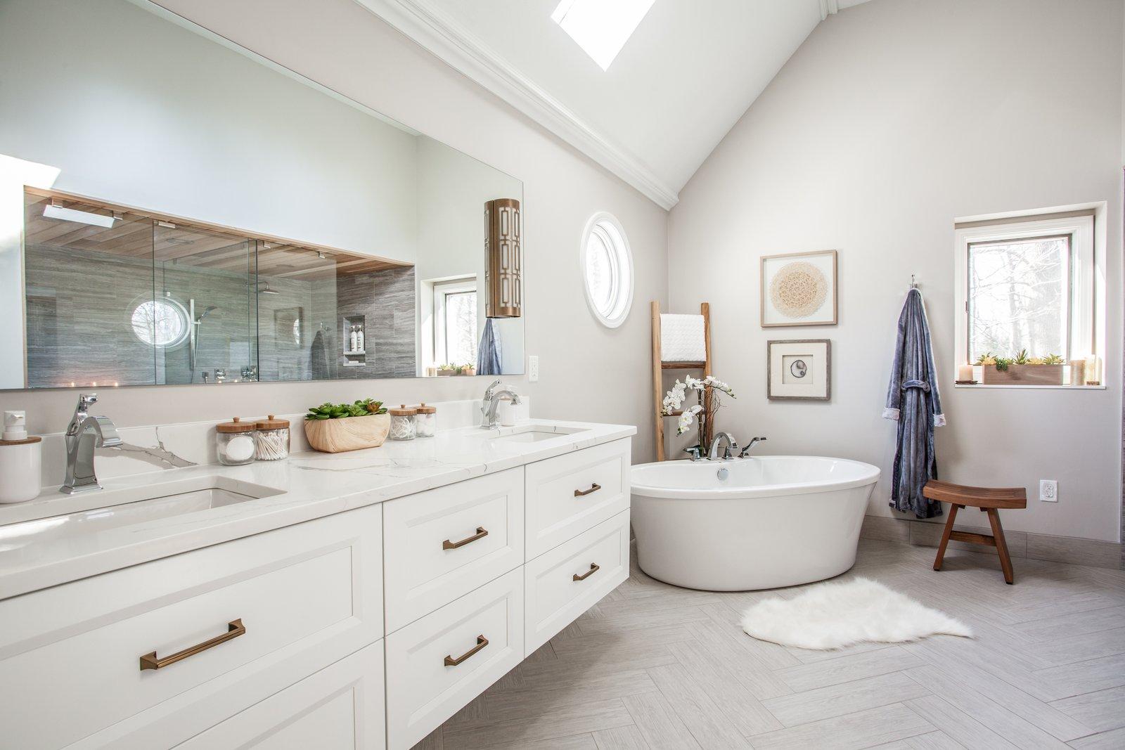 Bath Room, Open Shower, Freestanding Tub, and Full Shower  Ramsey Bathroom Remodel