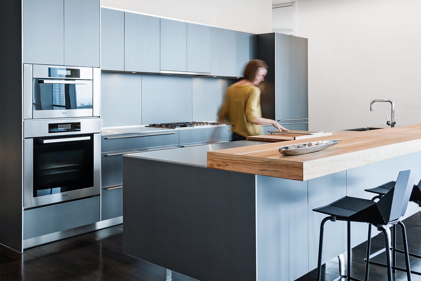 Kitchen, Wood Counter, and Wall Oven  Best Photos from interiors