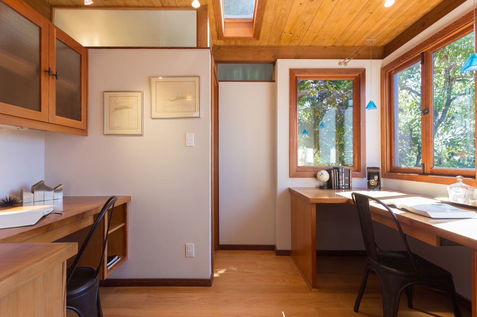 Office and Medium Hardwood Floor  Photos from Mid-Century Retreat in Berkeley
