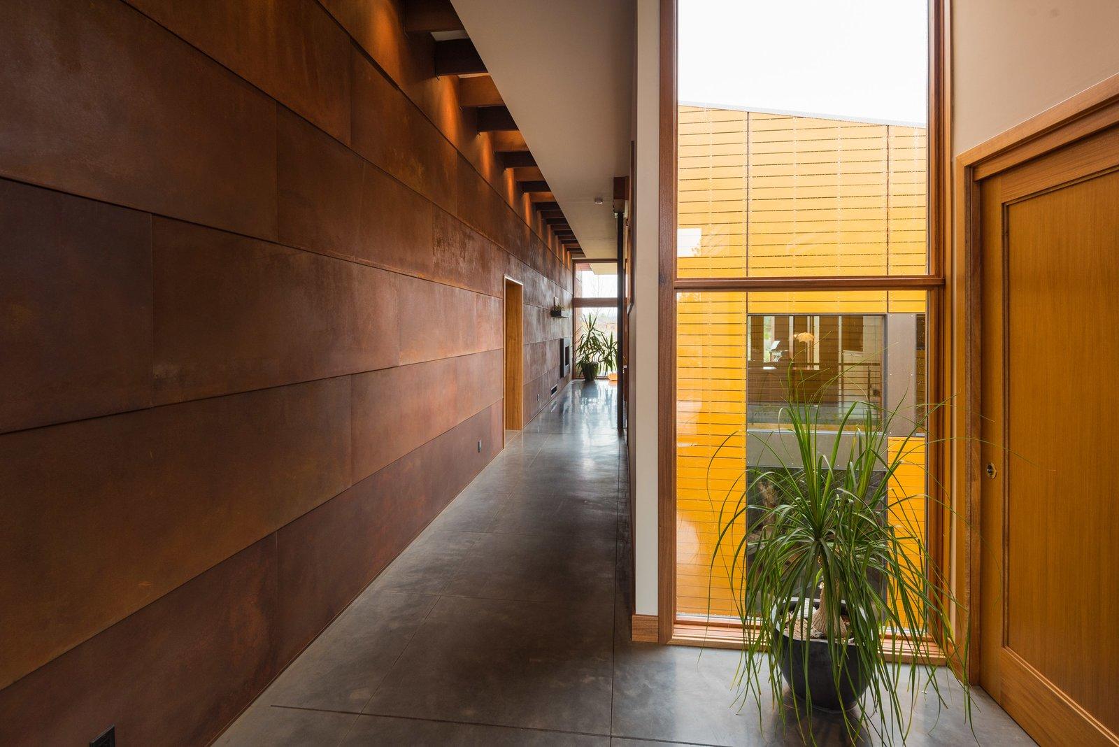 Hallway and Concrete Floor Entry  High Desert Pavillion