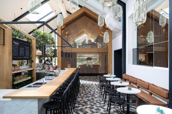 Boutique Coffee Roaster Coperaco's First Cafe Holds a Modern Tree House - Photo 1 of 6 -