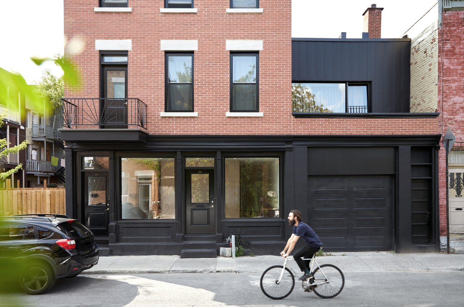 Exterior, House Building Type, Brick Siding Material, Flat RoofLine, Wood Siding Material, and Apartment Building Type  Photos from Villeneuve Residence
