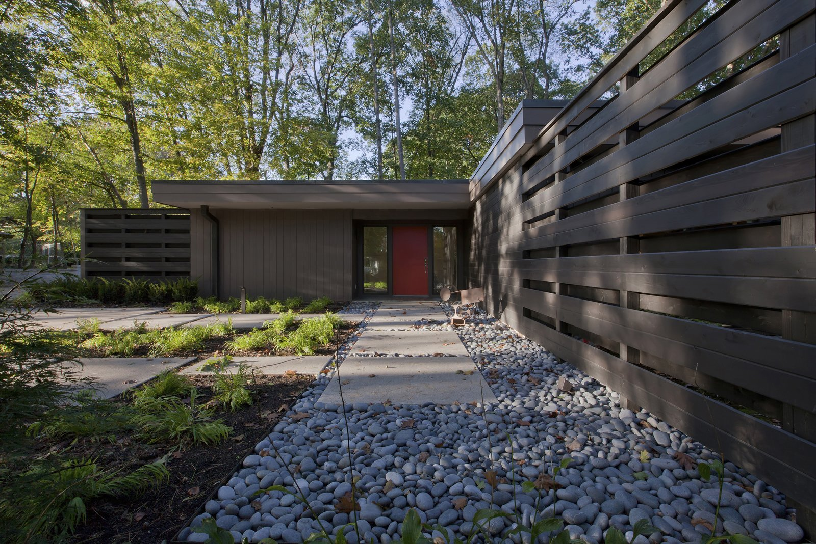 Exterior, Mid-Century Building Type, House Building Type, Flat RoofLine, and Wood Siding Material  MCM 220 by HAUS | Architecture For Modern Lifestyles