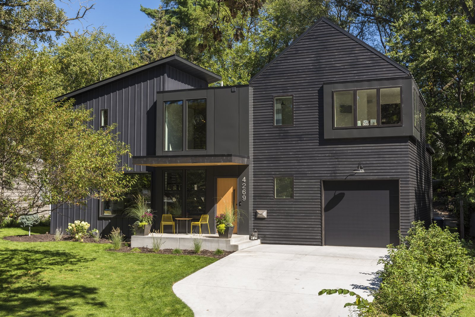 Exterior, House Building Type, Shingles Roof Material, Metal Roof Material, Wood Siding Material, Shed RoofLine, Gable RoofLine, Flat RoofLine, and Metal Siding Material  Abramson Residence
