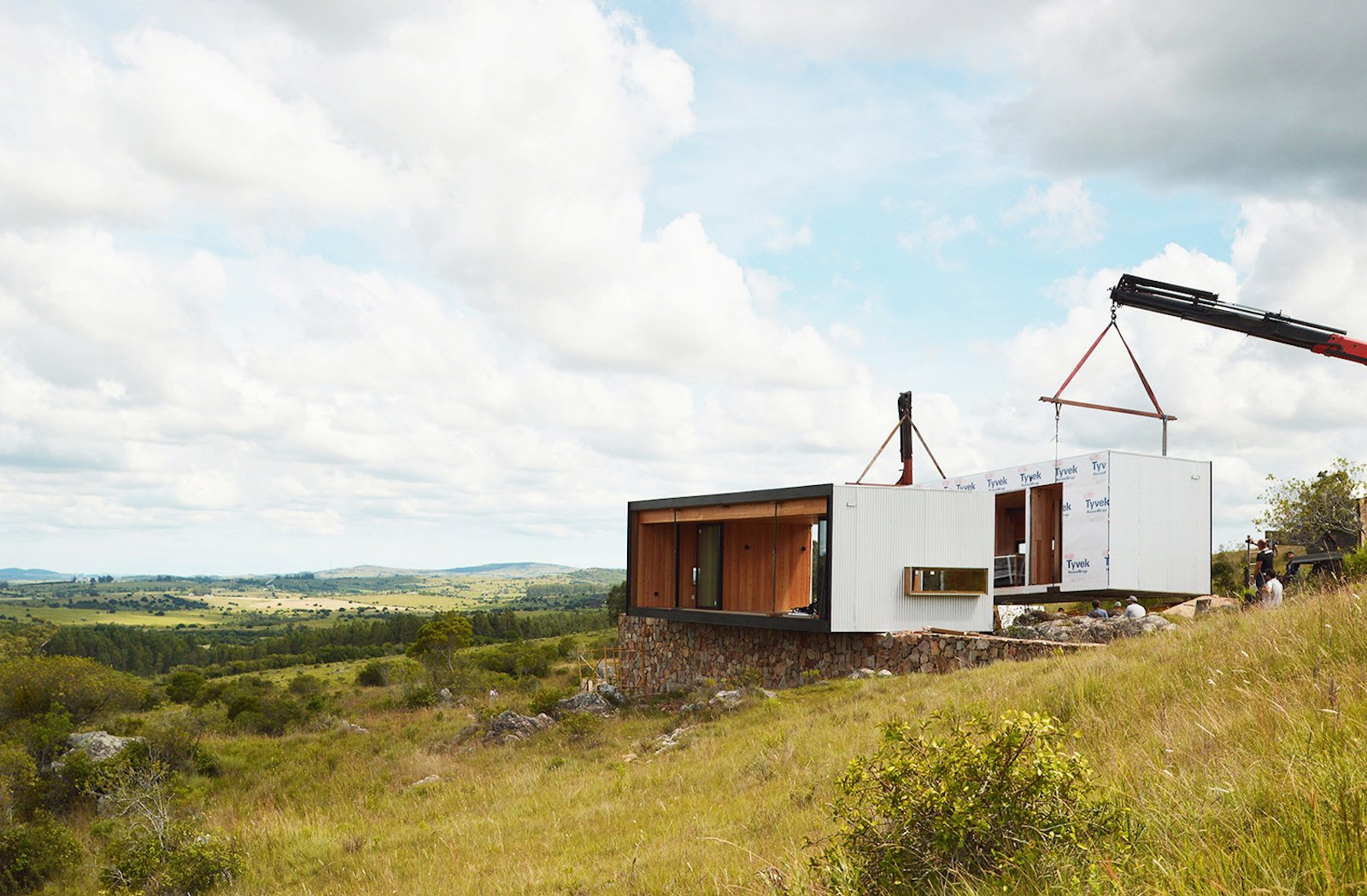 Exterior, Prefab Building Type, and House Building Type  Photo 3 of 16 in A Remote Prefab in Uruguay Is Completely Self-Sufficient
