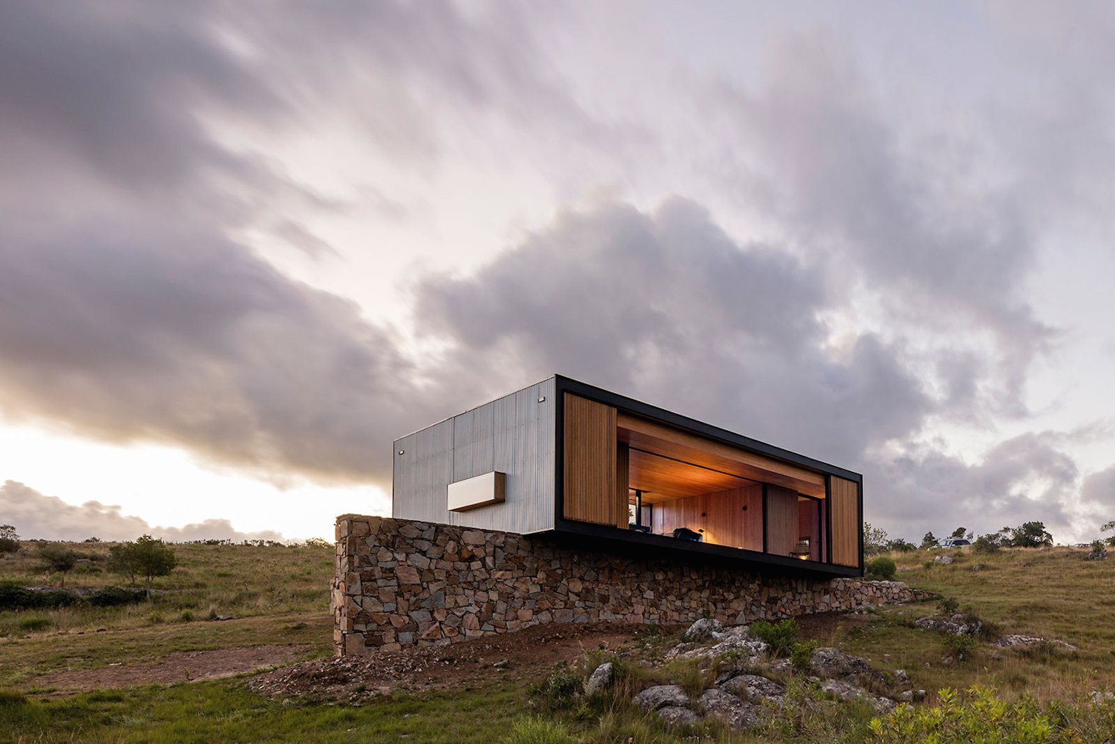Exterior, Prefab Building Type, and House Building Type  Photo 4 of 16 in A Remote Prefab in Uruguay Is Completely Self-Sufficient