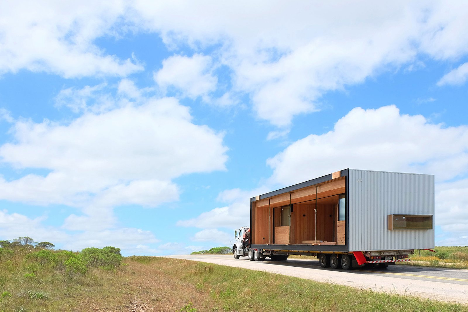 Exterior and Prefab Building Type  Photo 10 of 16 in A Remote Prefab in Uruguay Is Completely Self-Sufficient