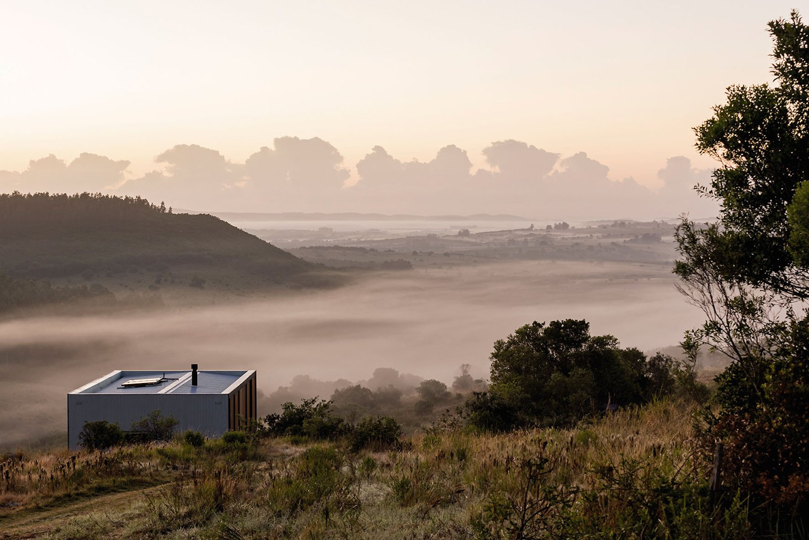 Exterior and Prefab Building Type  Photo 12 of 16 in A Remote Prefab in Uruguay Is Completely Self-Sufficient