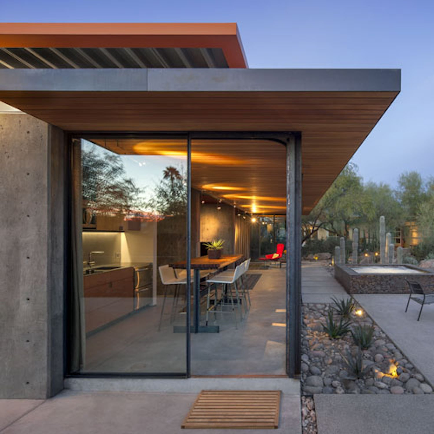 Doors, Exterior, Metal, and Sliding Door Type  Photo 4 of 12 in An Old Horse Barn Is Repurposed as a Chic Desert Guesthouse