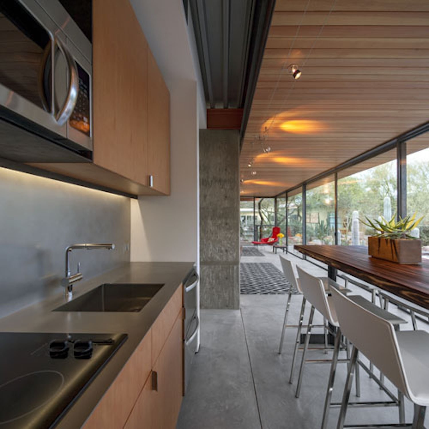 Kitchen, Drop In, Cooktops, Microwave, Concrete, and Wood  Best Kitchen Cooktops Microwave Concrete Drop In Photos