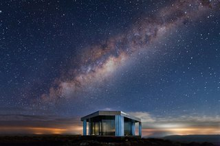 Go Stargazing in This Off-Grid Glass Prefab Nestled in the Desert - Photo 11 of 13 - The glass home is perfectly positioned for stargazing.