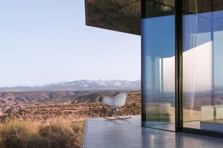 Go Stargazing in This Off-Grid Glass Prefab Nestled in the Desert - Photo 2 of 13 - The near-invisible coatings on the glass protect the interior from solar gain.