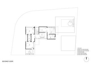 Here's the plan for the second floor of the House of Inside and Outside.