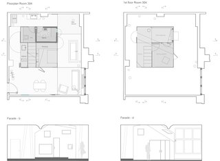 Here are the full floor plans of Room 304.