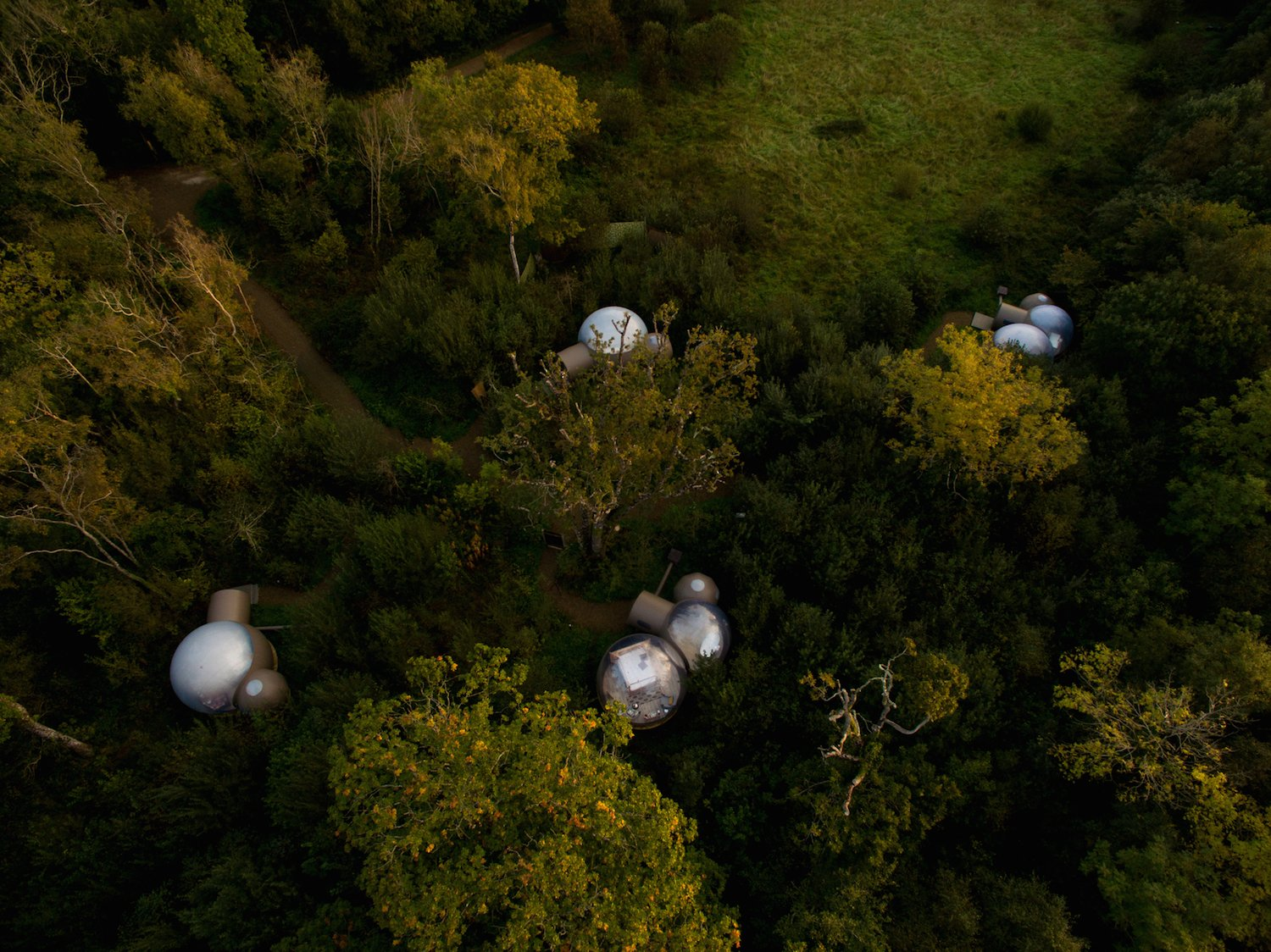 Exterior, Dome RoofLine, and Cabin Building Type The Bubble Domes are spaced far enough apart for privacy.   Photo 7 of 10 in Sleep Beneath the Stars in These Enchanting Bubble Domes in Ireland