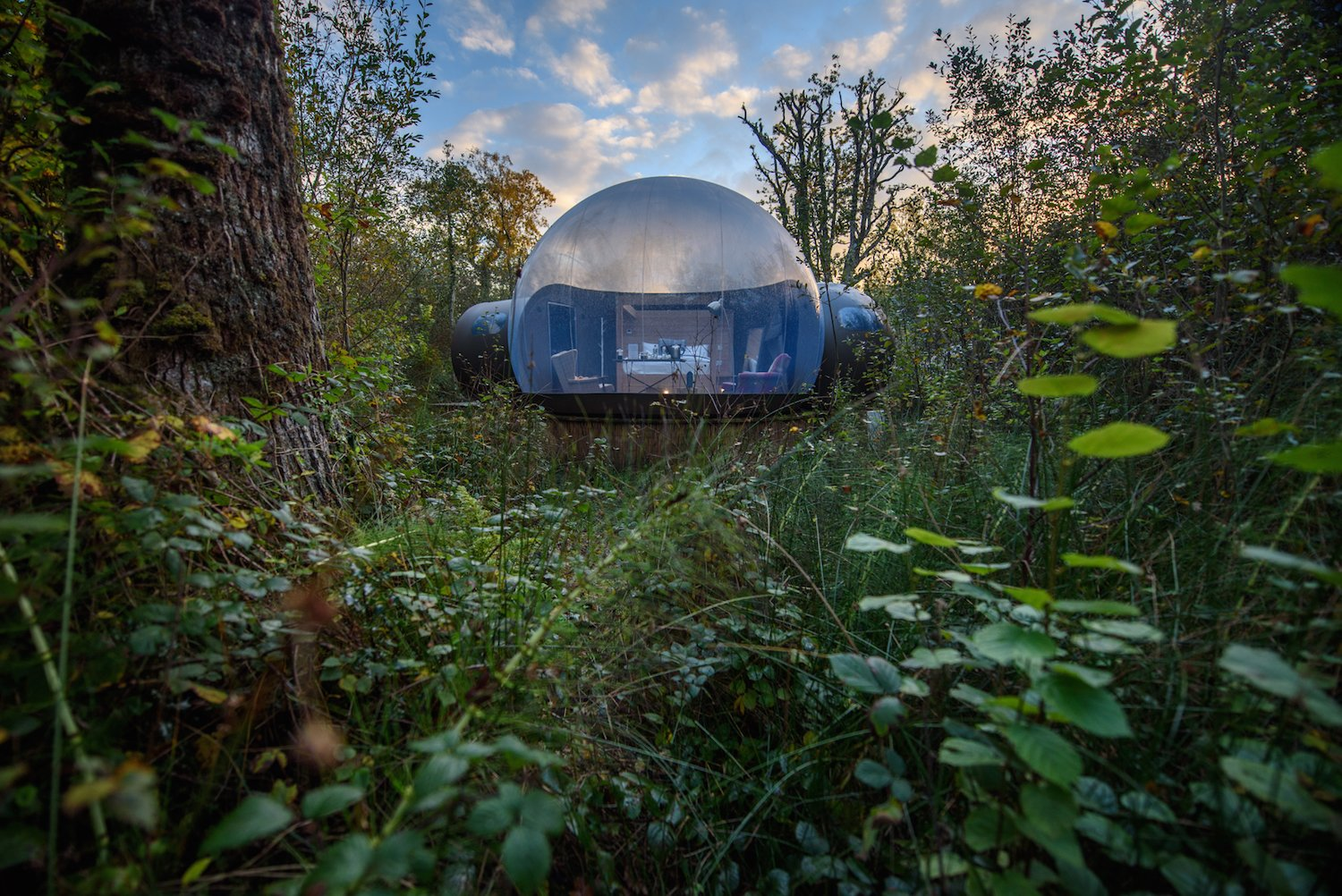 Exterior, Dome RoofLine, and Cabin Building Type An air pressure system holds up the domes.   Photo 8 of 10 in Sleep Beneath the Stars in These Enchanting Bubble Domes in Ireland