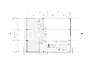 The Wood House upper floor plan.