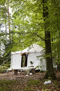Although the cabins have now been completed,  a few of the roomier canvas bedouin tents will still be available to rent.