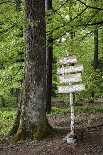 The farm is about two and a half acres and is surrounded by miles of forests that are ripe for foraging.