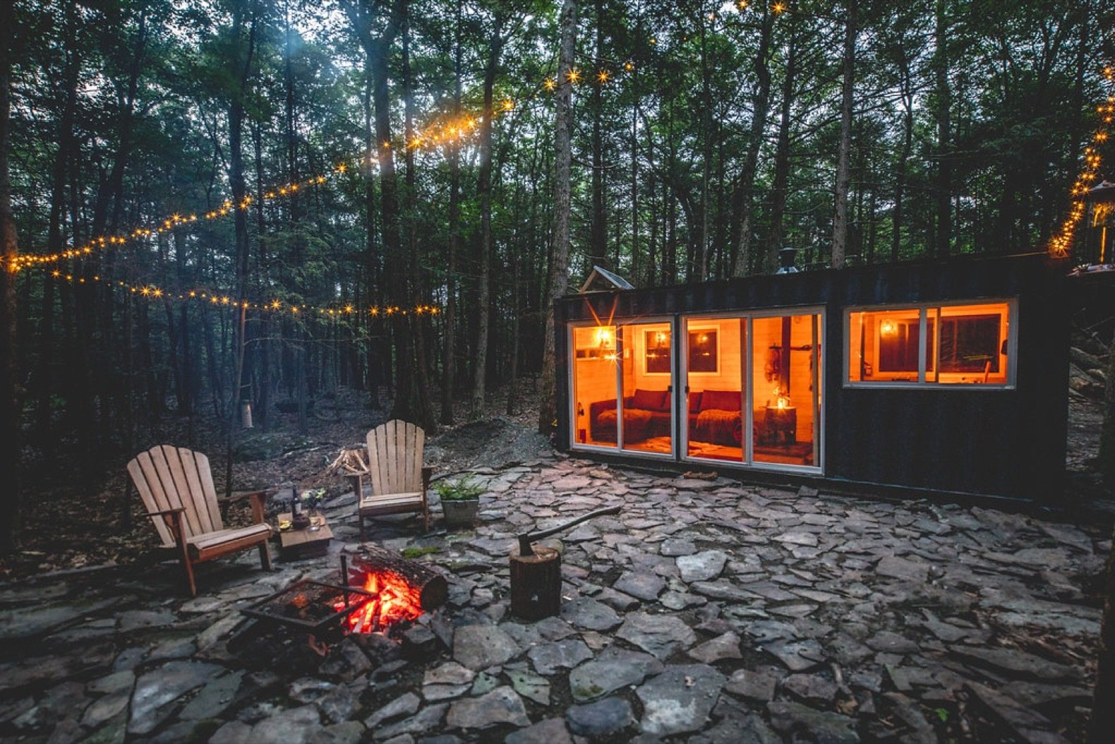 Experience the Serenity of the Catskills With This Off-Grid Shipping Container Cabin