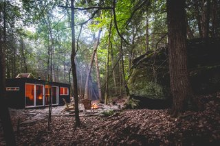 Nestled on a 20-acre plot on the eastern edge of the Catskill Mountains, the Container Cabin promises solitude in a lush forest with a waterfall a stone's throw away. Hiking and delicious food options are also abundant in the area.