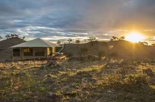 The couple plan to add four more Eco Structure tents to the retreat in the near future.
