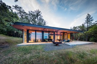 """""""In contrast to their introverted loft, High Horse Ranch was designed to be outwardly focused and defined by the site, its views, and the natural landscape,"""" says KieranTimberlake."""