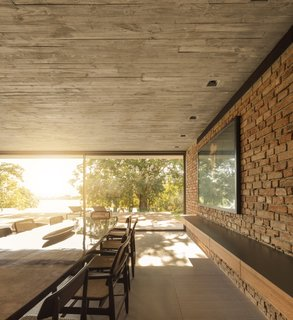 Brick was also used in the interior to lend a sense of warmth.