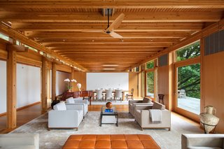 The interior is primarily finished in clear Douglas Fir to help add warmth/vibrancy to the home.