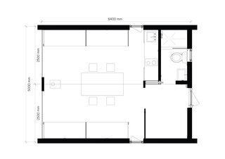 A look at the Dubldom in Kandalaksha floor plan.