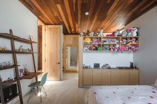 Here is a look at the room Gracia designed for his daughter, Valentina, which has ample storage for her toys.