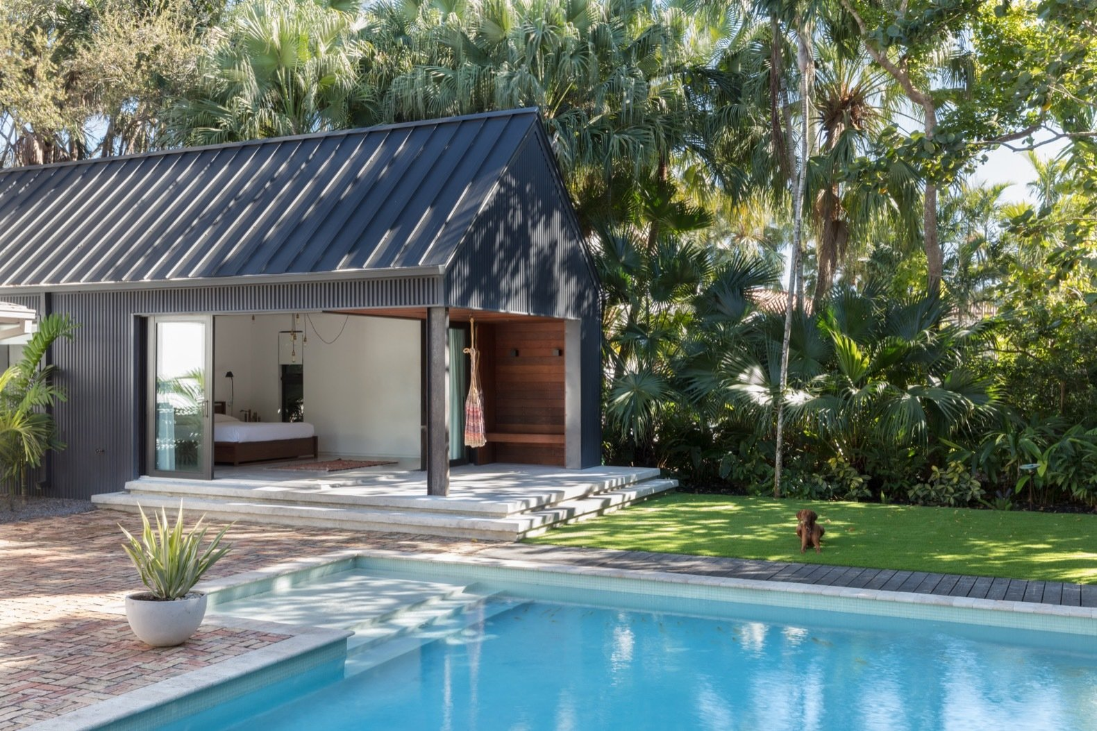 A Minimalist Bungalow in Miami Welcomes a Sleek New Addition