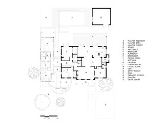Here's a look at the floor plan of the existing home.
