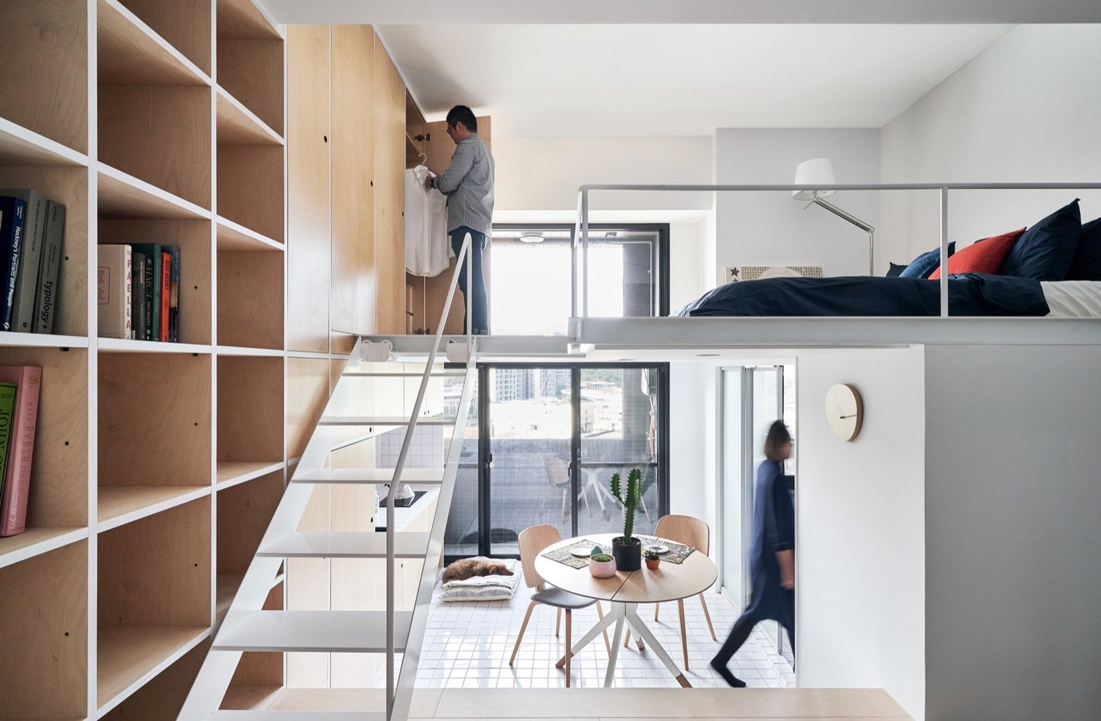 A Tiny Taipei Apartment Pursues Muji Like Minimalism For