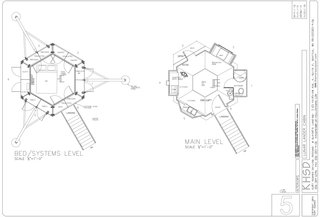 A look at the floor plans of the Lunar Lander.