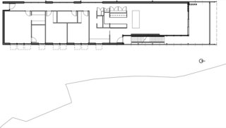 Here's the floor plan of the fire-resistant home.