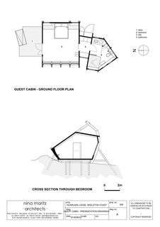 Here's the cabin floor plan and cross section.