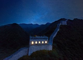 Mainly constructed during the Ming Dynasty, the centuries-old Great Wall is believed to have included an estimated 25,000 watchtowers erected for border control and defense.