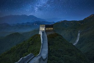 The converted watchtower is located in one of the better preserved sections of the Great Wall in northwest Beijing.