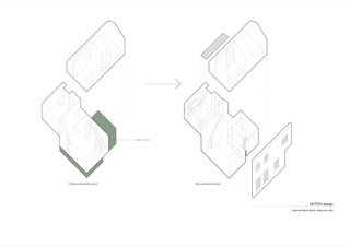 Axonometric diagrams of the before-and-after.
