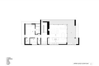 The Teton Valley Residence upper-level floor plan.