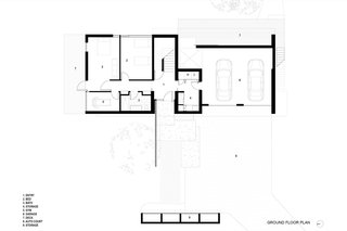 The Teton Valley Residence ground floor plan.