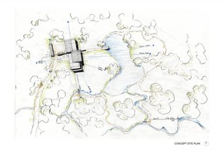 The Teton Valley Residence concept site plan with identified views.