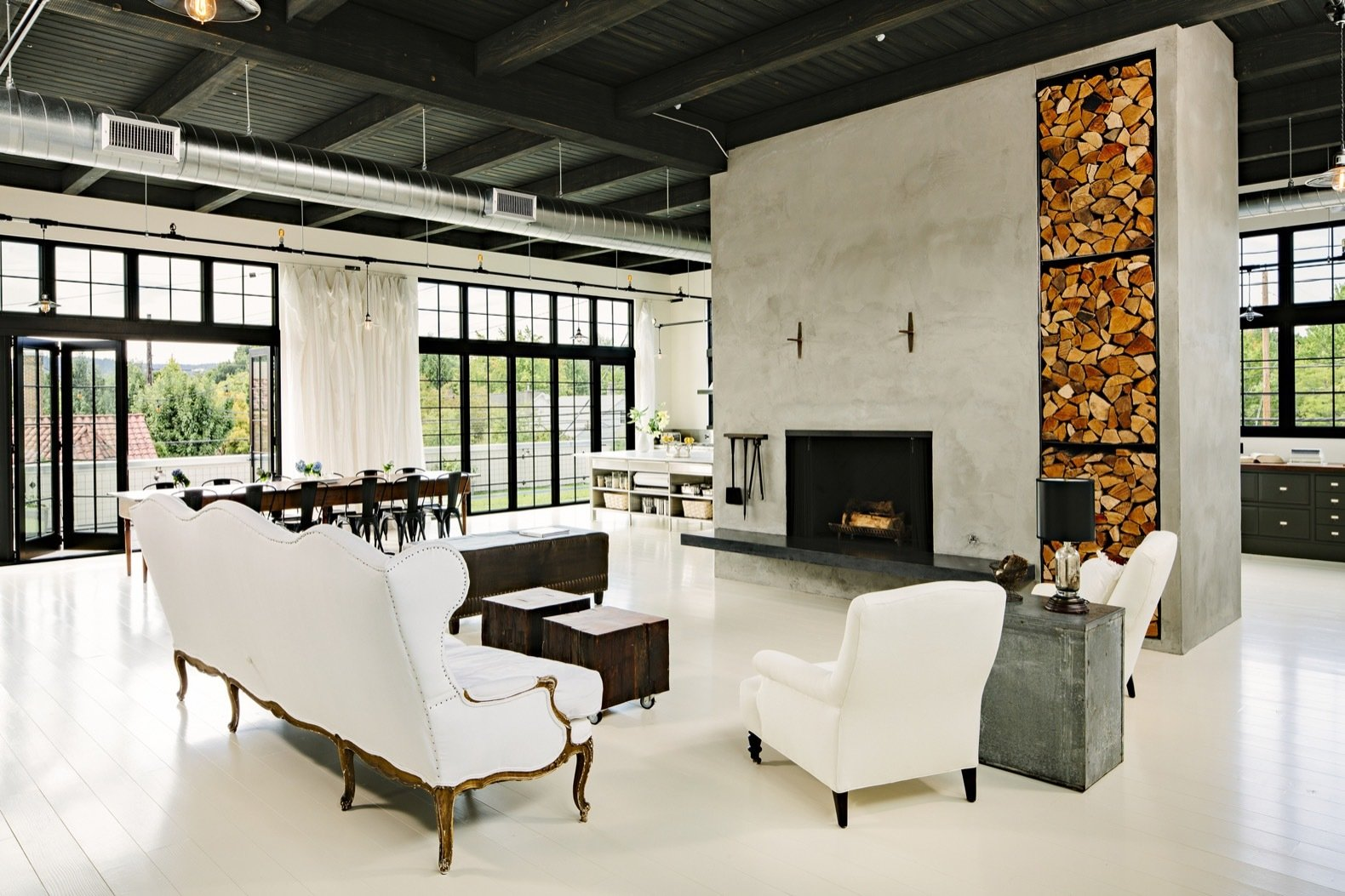 A 1920s Portland Warehouse Is Rehabbed Into an Industrial-Chic Home