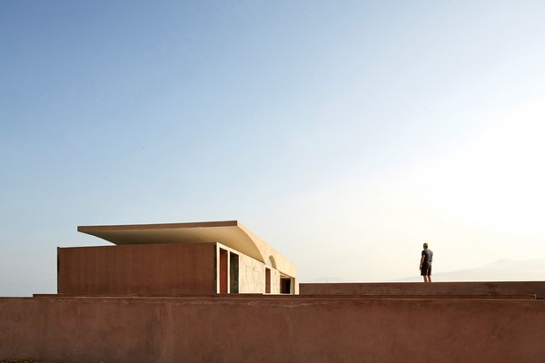 """Located 31 miles north of Lima, the C3 House is set in a windswept Ancón landscape that the architects describe as """"martian-like."""""""
