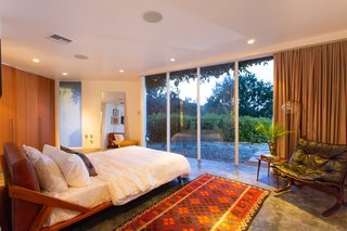 The second bedroom, a later addition by Lautner, is roomier than the first.